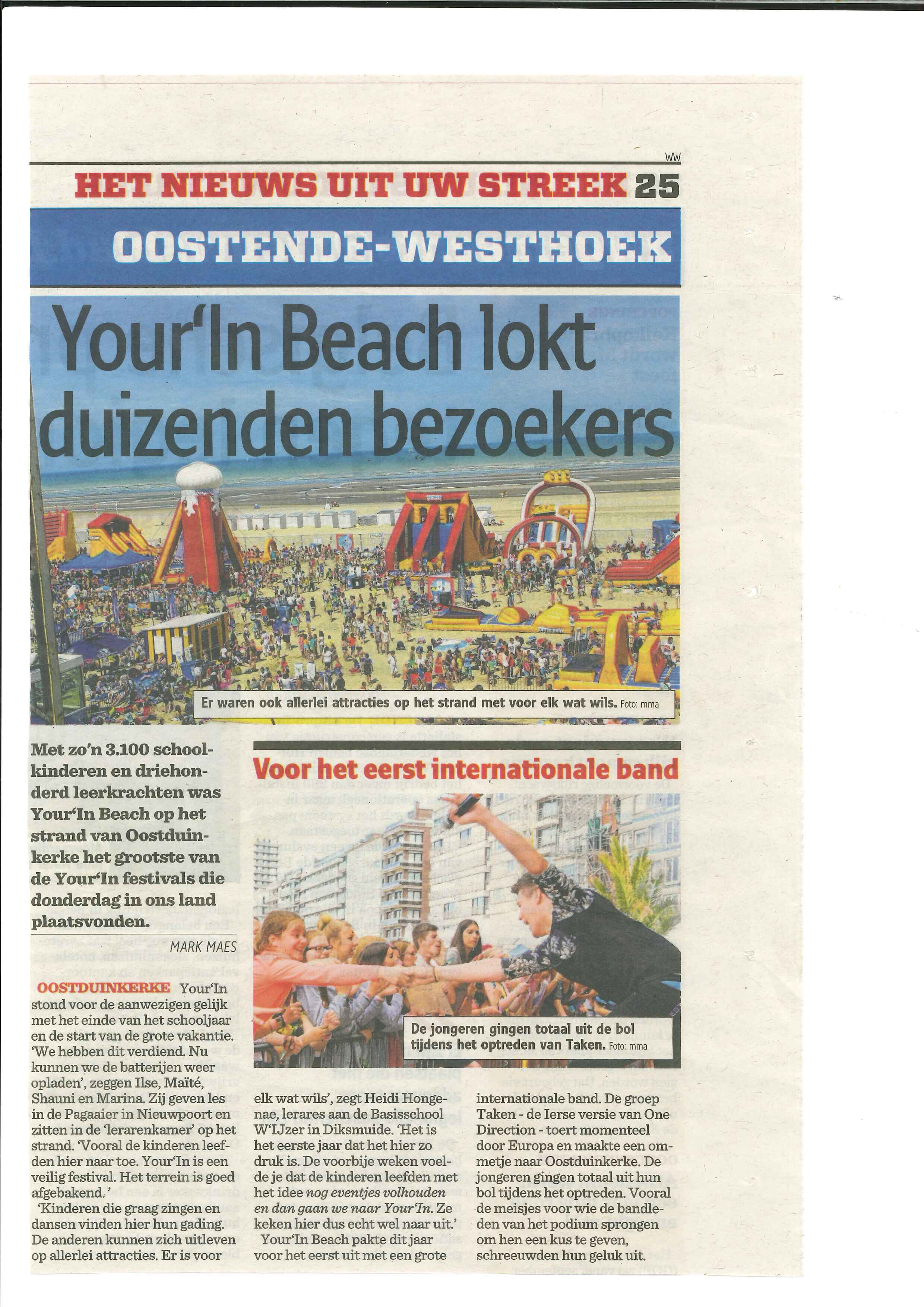 Your'in Beach 5de leerjaar